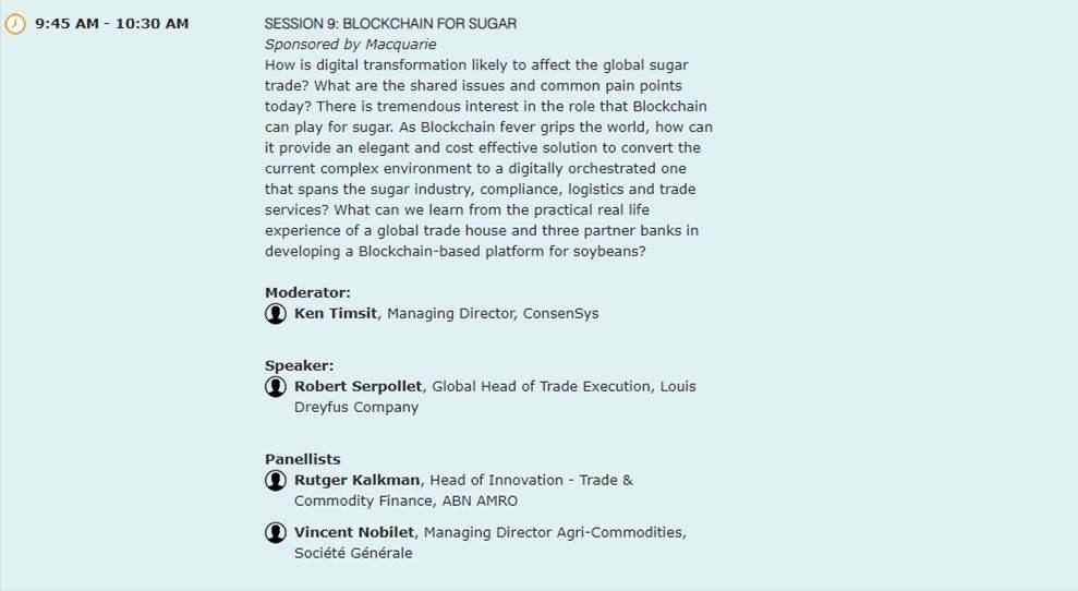 Royal Sugar SA invited to Dubai Sugar Conference (10-13 Feb