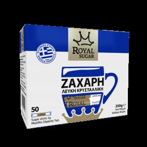 Μερίδες Λευκής Ζάχαρης – 50 Sticks των 5gr Royal Sugar